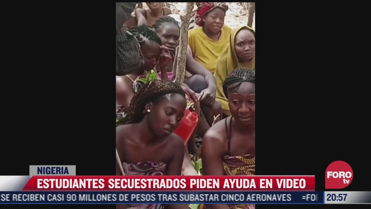estudiantes secuestrados piden ayuda en video en nigeria