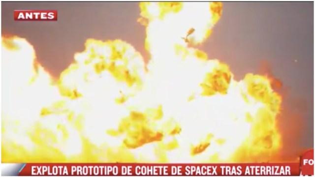 explosión SpaceX