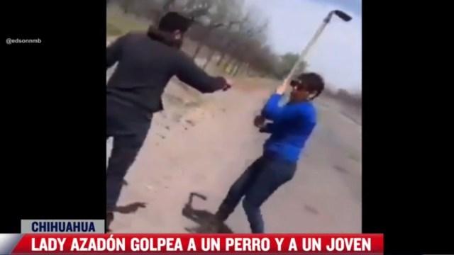 'Lady Azadón' golpea a un hombre y un perro en Chihuahua
