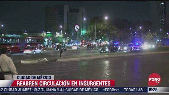 manifestantes liberan insurgentes al cruce reforma