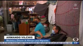 mecanico mexicano transforma taller en refugio para migrantes