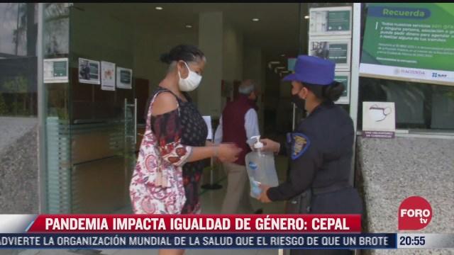 pandemia por covid 19 impacta igualdad de genero cepal