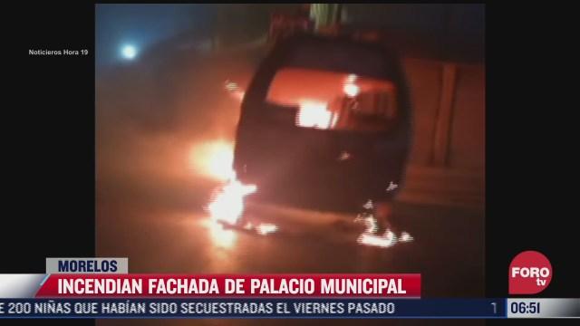 pobladores incendian fachada del palacio municipal de huitzilac morelos