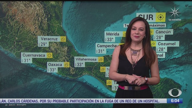 preven altas temperaturas en occidente centro y sur de mexico