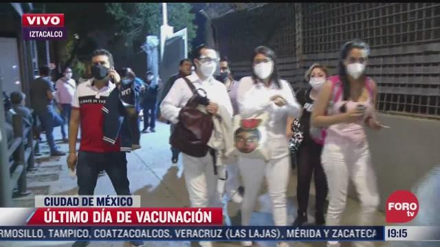 se realiza ultimo dia de vacunacion en iztacalco cdmx