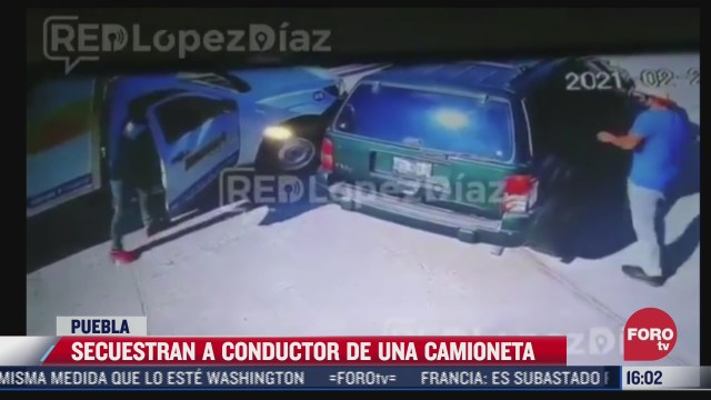 secuestran a conductor de una camioneta en puebla