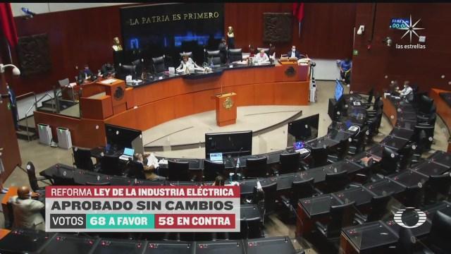 senado aprueba sin cambios reforma energetica