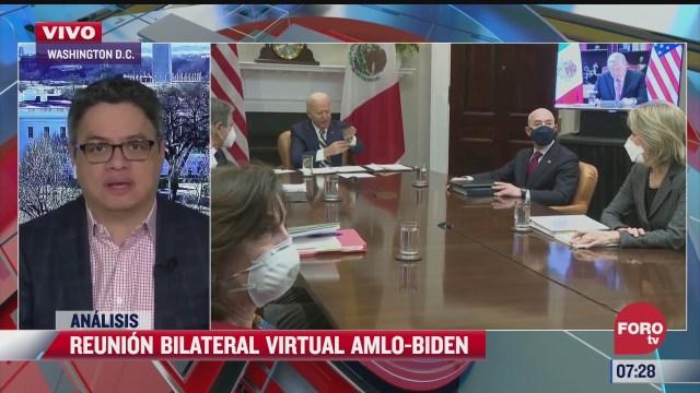 Reunión bilateral virtual entre AMLO y Biden
