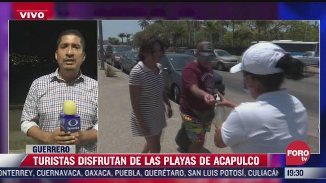 turismo no colabora con medidas sanitarias en playas de acapulco