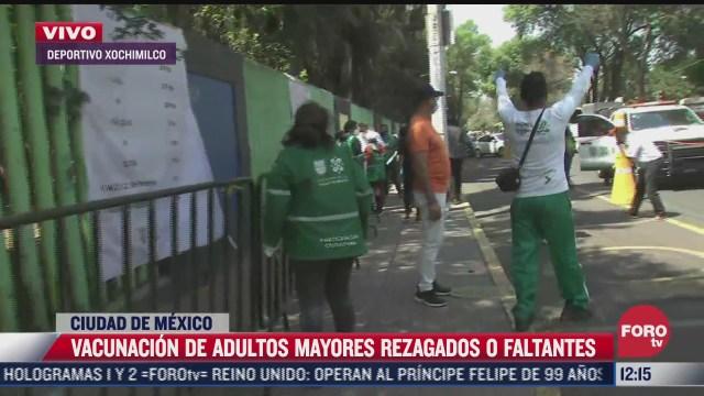 ultimo dia de vacunacion para adultos mayores en xochimilco