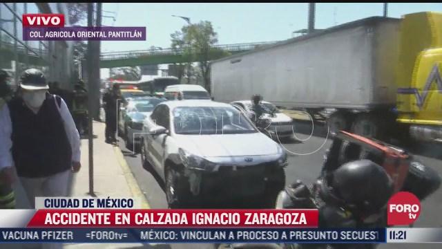 accidente en calzada ignacio zaragoza deja un herido y provoca caos vial