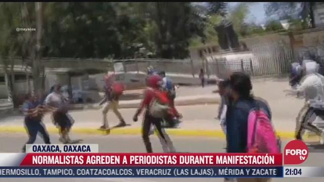 agreden a periodistas durante manifestacion en oaxaca