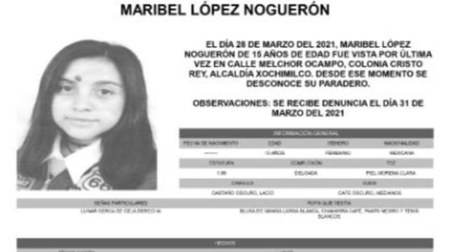 Activan Alerta Amber para localizar a Maribel López Noguerón
