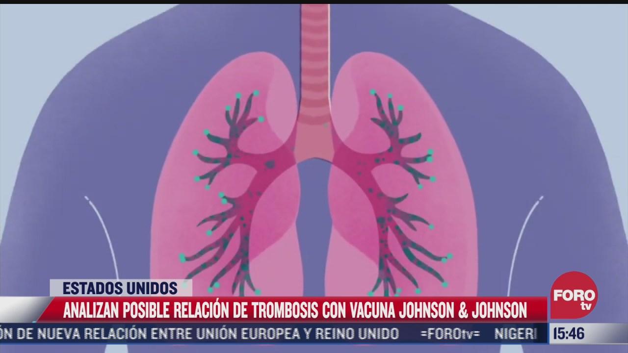 analizan posible relacion de vacuna johnson johnson con trombosis