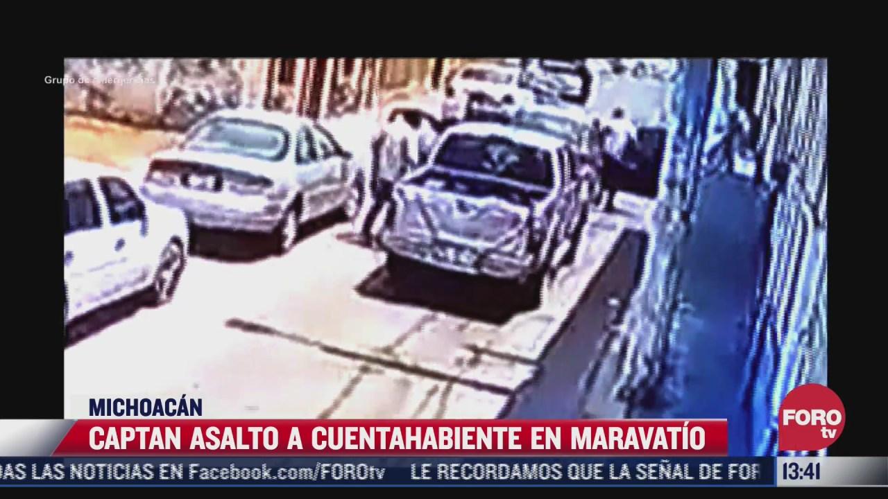 asaltan a hombre que retiro dinero de un banco en maravatio michoacan