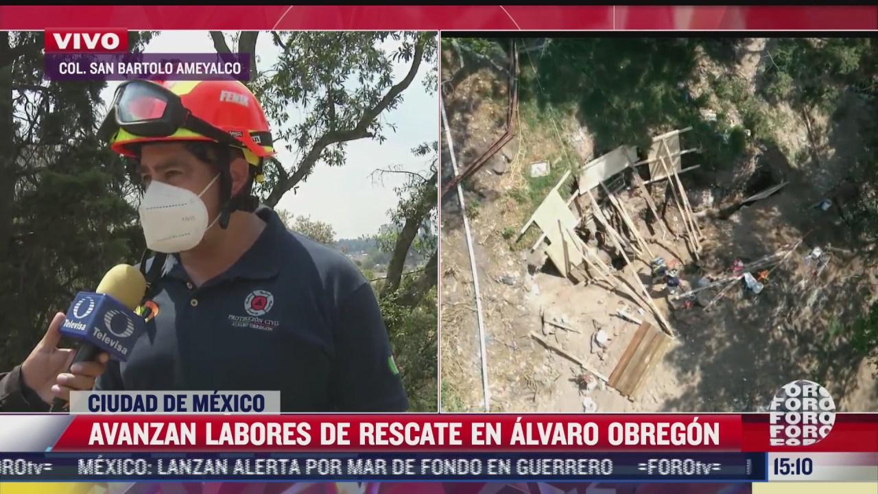 avanzan labores de rescate tras derrumbe en alvaro obregon
