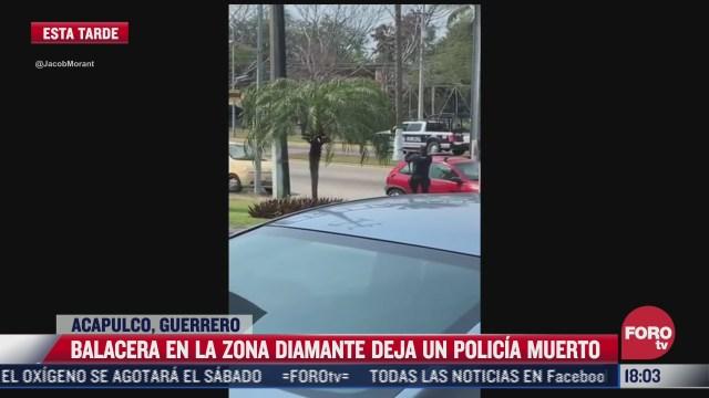 balacera entre policias y civiles armados deja un muerto