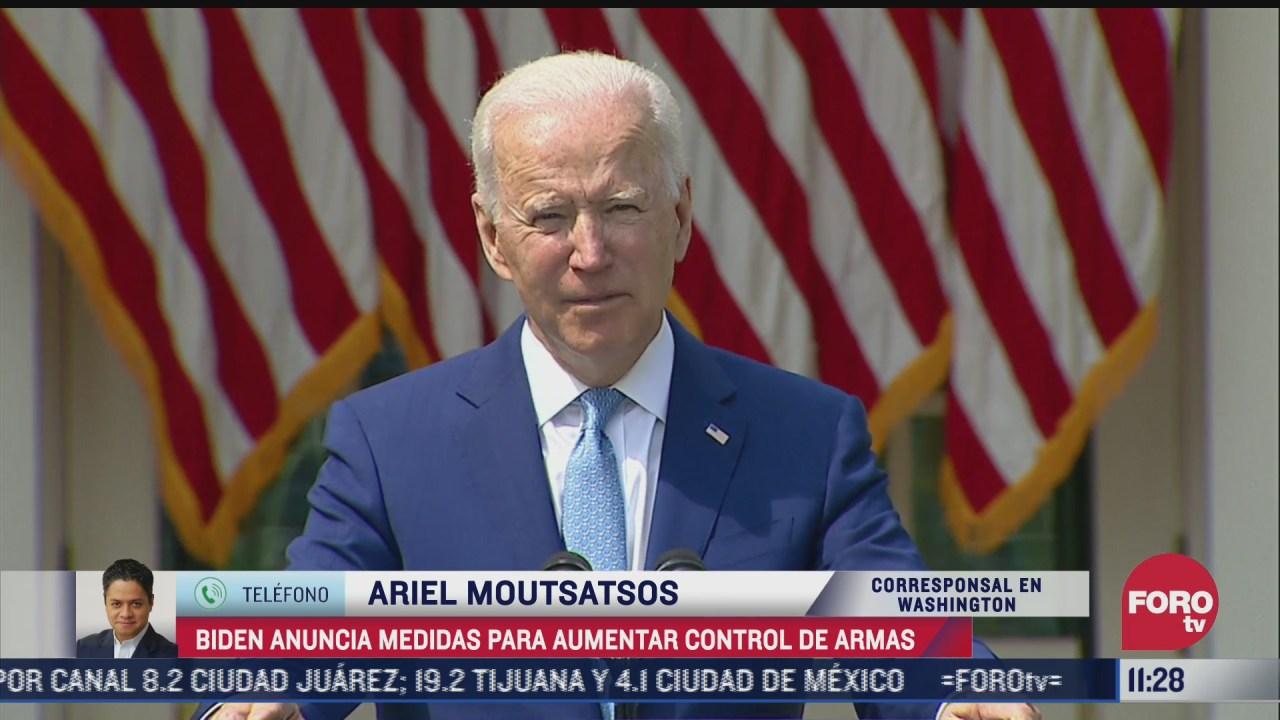 Biden anuncia medidas para aumentar control de armas