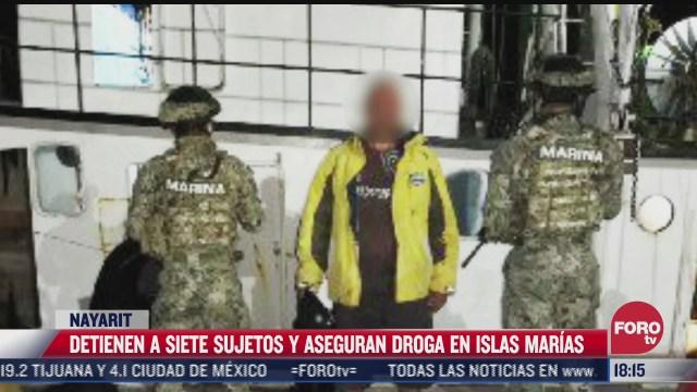 caen 7 sujetos y aseguran droga en islas marias nayarit