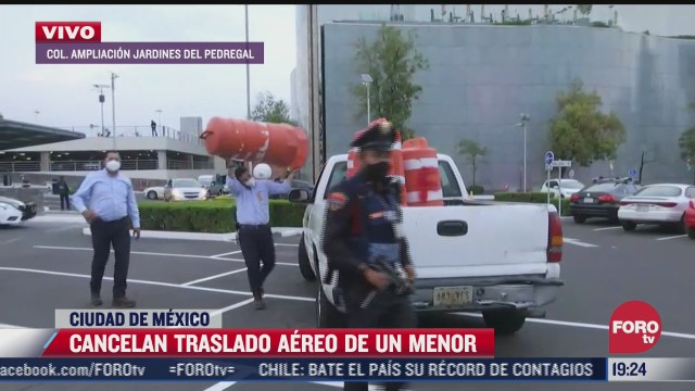 cancelan traslado aereo de menor accidentado
