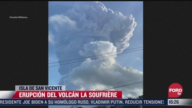 captan erupcion del volcan la soufriere en isla de san vicente