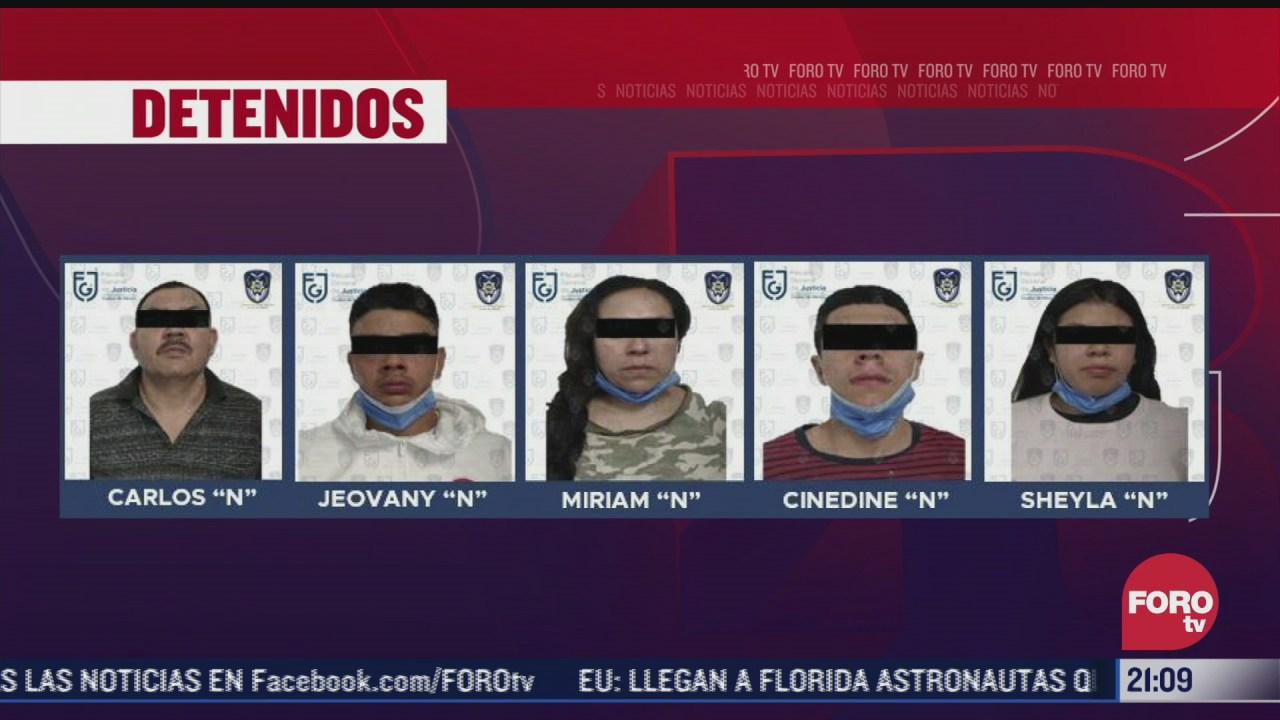 cinco detenidos tras operativo a inmueble por denuncias