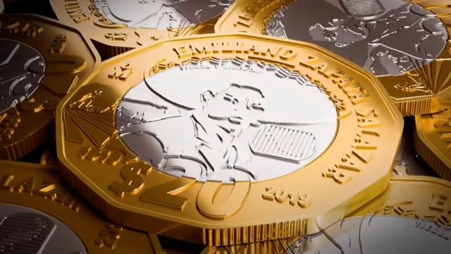 Como es la nueva moneda de 20 pesos en honor al centenario de la muerte de Emiliano Zapata