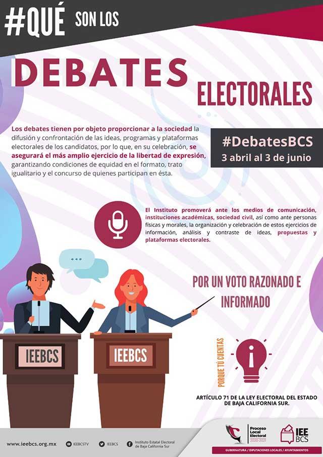 Elecciones 2021 Cuándo es el debate en Baja California Sur
