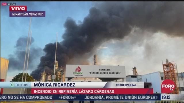 emiten alerta a pobladores cercanos a incendio en refineria lazaro cardenas