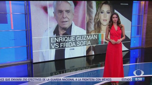 enrique guzman procedera legalmente en contra de frida sofia