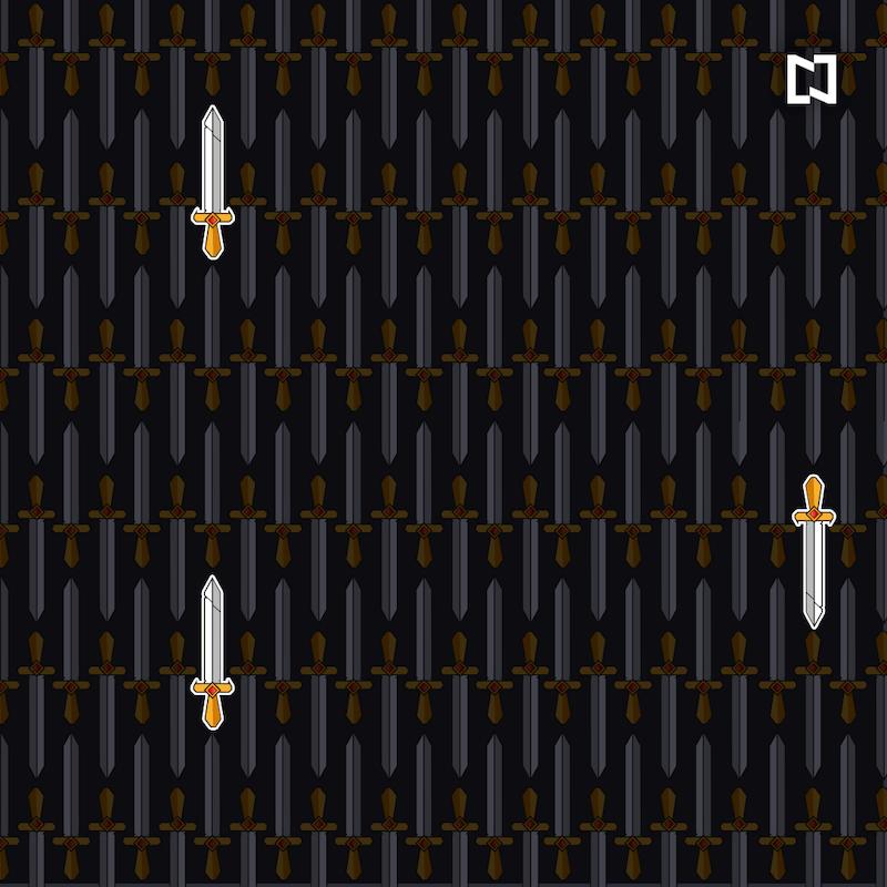 Encuentra las espadas rotas, ilustración