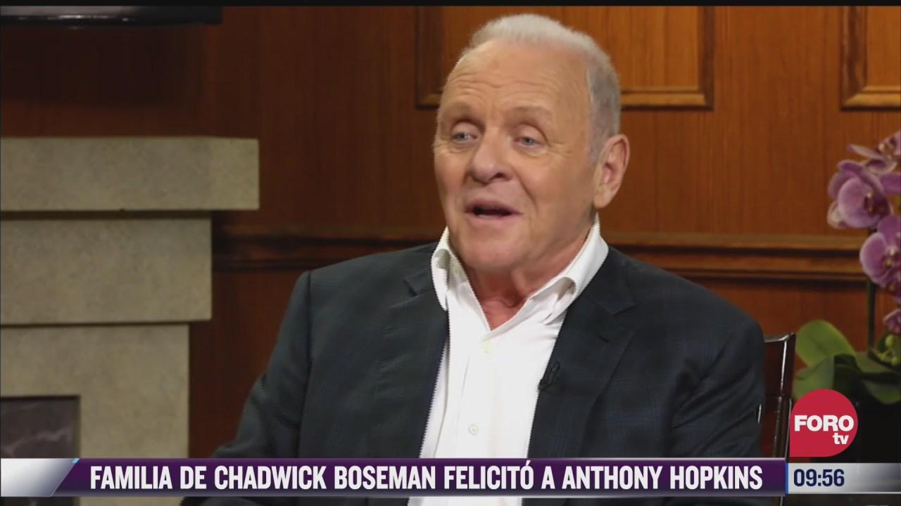 espectaculosenexpreso familia de chadwick boseman felicita a anthony hopkins
