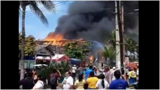 Incendio Isla Mujeres