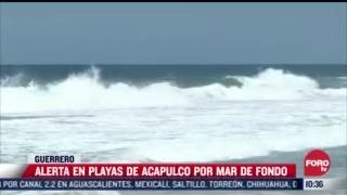 hay alerta por oleaje elevado en acapulco guerrero