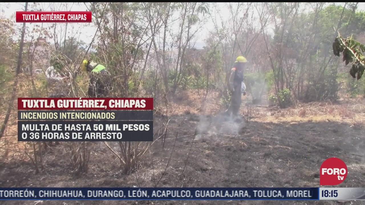 incrementan incendios de pastizales en chiapas