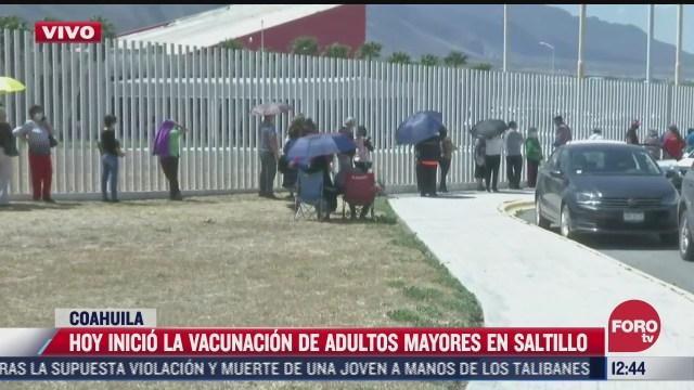 inicia jornada de vacunacion en saltillo coahuila