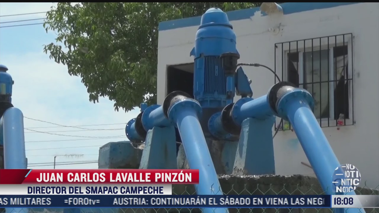investigan robo de tuberias de agua en campeche