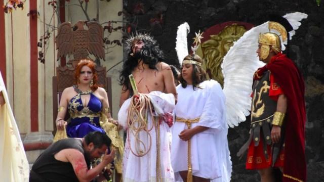 Iztapalapa realiza la 178 representación de la Pasión de Cristo