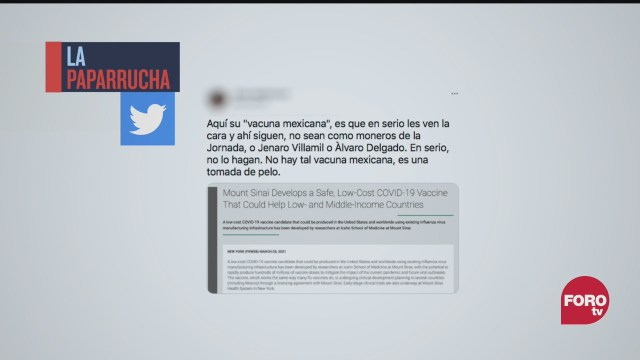 la vacuna contra covid patria no es mexicana la paparrucha del dia