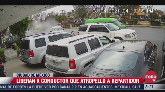 liberan a conductor que atropello a un repartidor