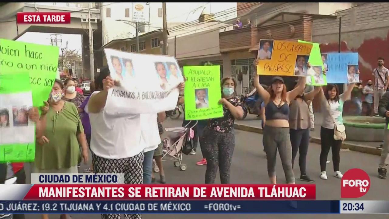 manifestantes retiran bloqueo en avenida tlahuac
