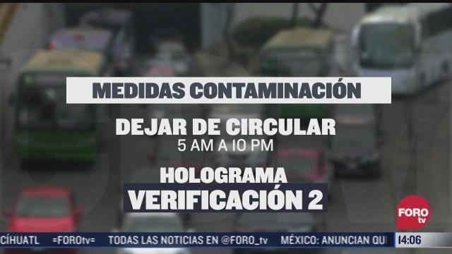 medidas por contingencia ambiental en cdmx