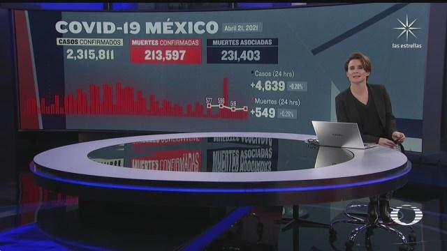 mexico registra ligero aumento en defunciones por covid