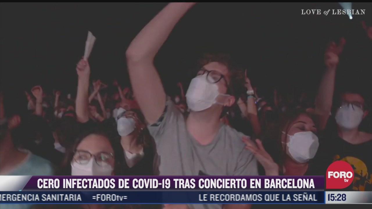 no se registran contagios covid tras concierto celebrado en barcelona