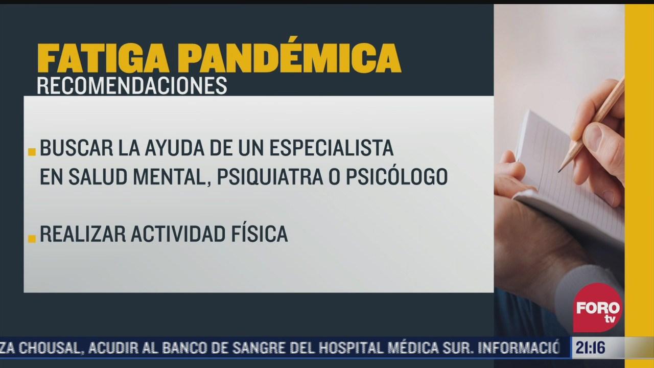 pandemia por covid 19 ocasiona fatiga pandemica