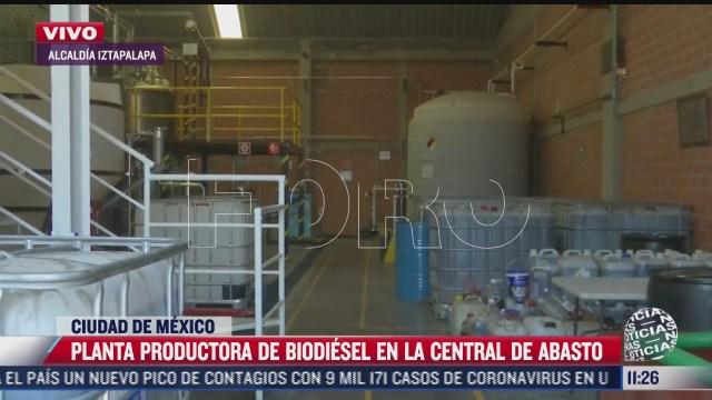 planta productora de biodiesel en la central de abasto en cdmx