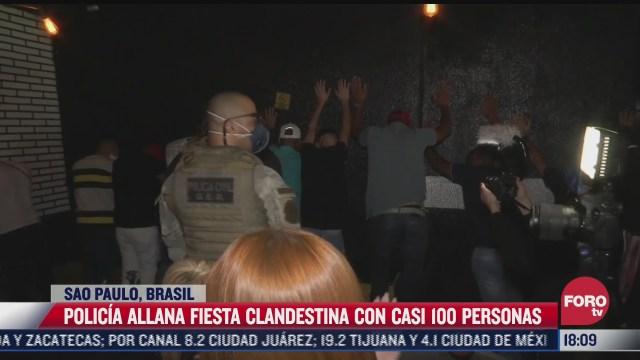 policia allana fiesta clandestina con casi 100 personas en brasil