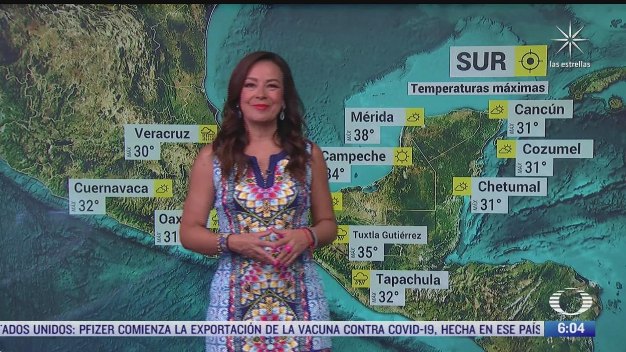 preven lluvias y ambiente frio en zonas del norte de mexico