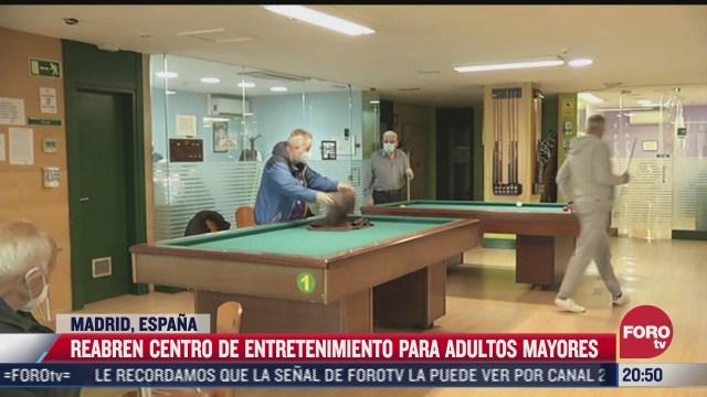 reabren centros de entretenimiento para adultos mayores en espana