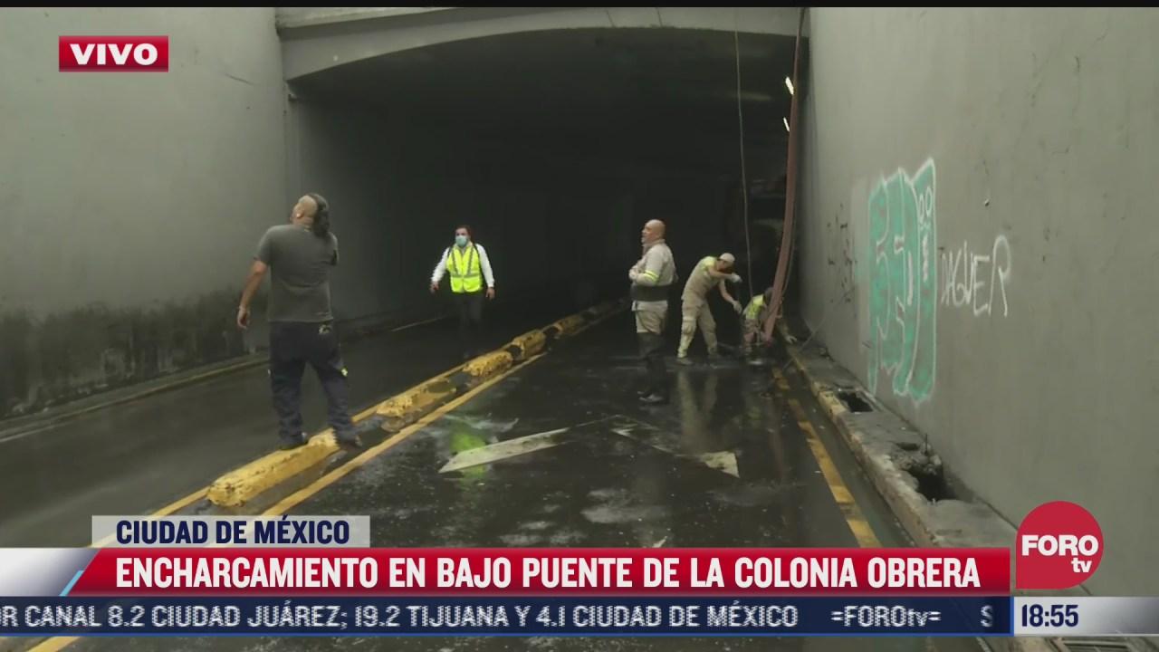 realizan labores de desazolve en bajo puente de la colonia obrera